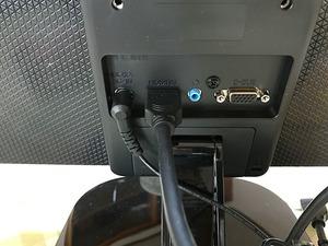 LGエレクトロニクスの22MP48HQ-P 21.5インチの裏側