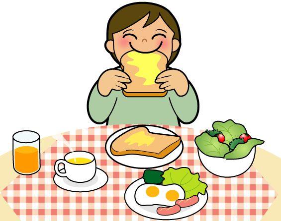パンを美味しそうに食べる子ども