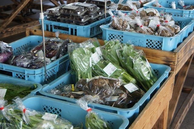 道の駅で販売されているとれたて野菜