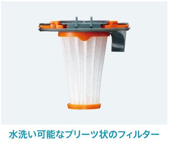 水洗い可能なプリーツ上のフィルター