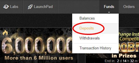 Binance Deposits 預金