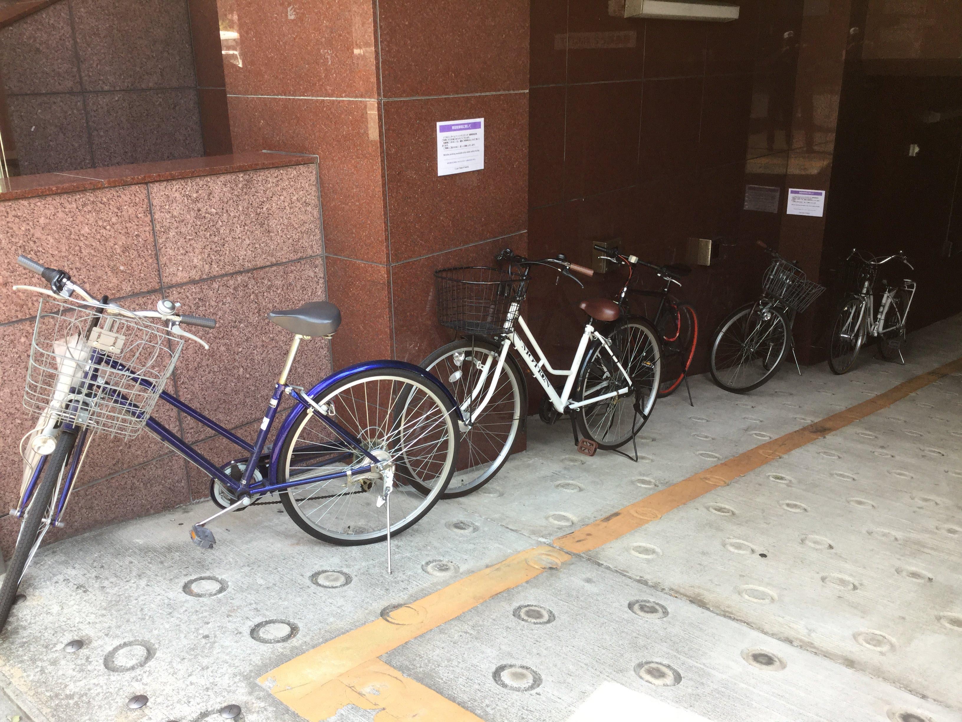 エニタイム 福岡赤坂 駐輪場