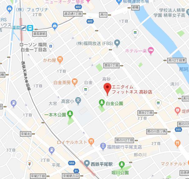 エニタイムフィットネス高砂店 地図